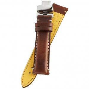 Fromanteel Pendulum Horlogeband Geolied Kalfsleer Bruin met Vouwsluiting L/XL