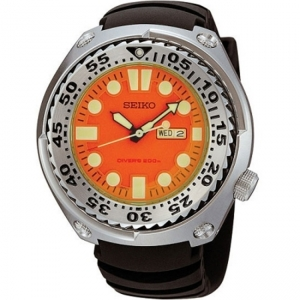 Seiko Sawtooth Horlogeband SHC067  Zwart Rubber