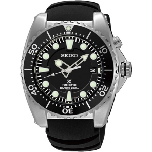 Seiko Kinetic Diver Horlogeband SKA371P2 Zwart Rubber