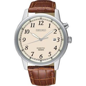 Seiko Kinetic Horlogeband SKA779 Bruin Leer