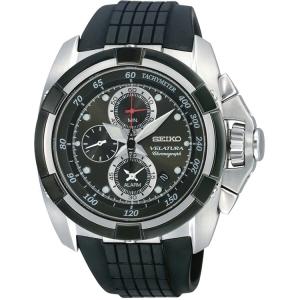 Seiko Velatura Chronograph Horlogeband SNAA93P2 Zwart Rubber