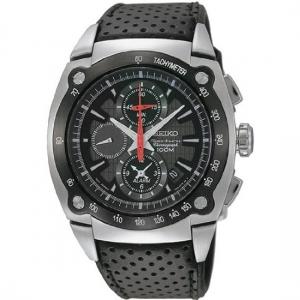 Seiko Sportura Horlogeband SNAA95 Zwart Leer