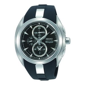 Seiko Arctura Chronograph Horlogeband SNAC21 Zwart Rubber