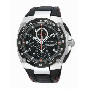 Seiko Sportura Horlogeband SNAD23P2 Zwart Leer