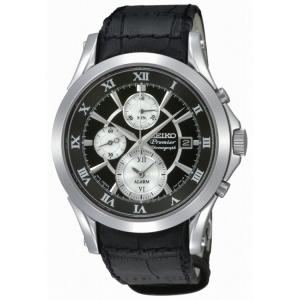 Seiko Premier Horlogeband SNAD29P1 Zwart Leer