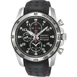 Seiko Sportura Horlogeband SNAE65P1 Zwart Leer
