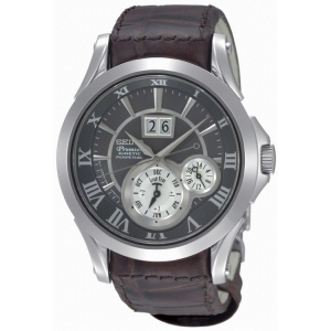 Seiko Premier Horlogeband SNP025P1 Bruin Leer