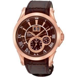 Seiko Premier Horlogeband SNP038 Bruin Leer