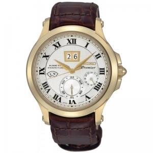 Seiko Premier Horlogeband SNP044P1 Bruin Leer