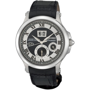 Seiko Premier Horlogeband SNP049P1 Zwart Leer