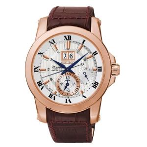 Seiko Premier Horlogeband SNP096P1 Bruin Leer