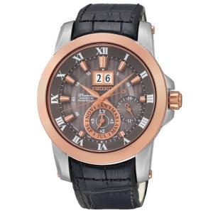 Seiko Premier Horlogeband  SNP114P2 Zwart Leer
