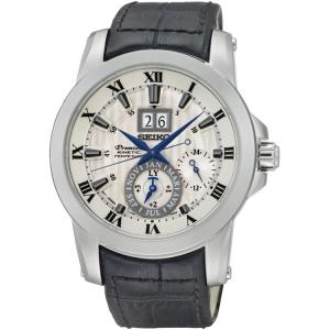 Seiko Premier Horlogeband SNP115P1 Zwart Leer