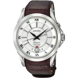 Seiko Premier Horlogeband SNQ105P1 Bruin Leer