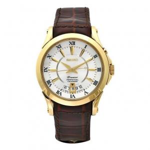 Seiko Premier Horlogeband SNQ118P1 Bruin Leer