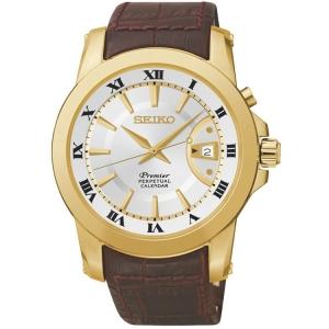 Seiko Premier Horlogeband SNQ144P1 Bruin Leer