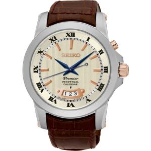 Seiko Premier Horlogeband SNQ150P1 Bruin Leer