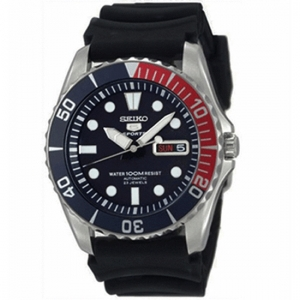 Seiko Horlogeband SNZF27K2 Zwart Rubber