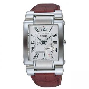 Seiko Horlogeband SPQ011 Bruin Leer