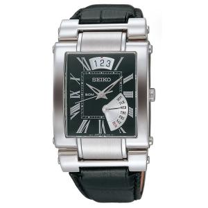 Seiko Horlogeband SPQ013 Zwart Leer