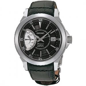 Seiko Premier Horlogeband SRG001 Zwart Leer