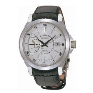 Seiko Premier Horlogeband SRG003 Zwart Leer