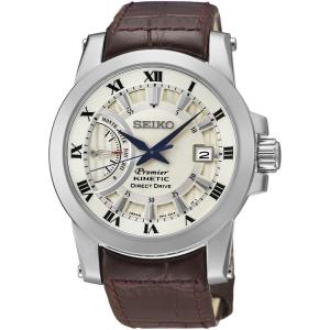 Seiko Premier Horlogeband SRG013P1 Bruin Leer