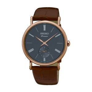 Seiko Premier Horlogeband SRK040P1 Bruin Leer