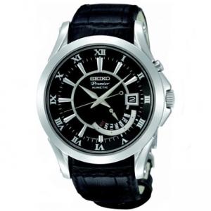 Seiko Premier Horlogeband SRN005P1 Zwart Leer