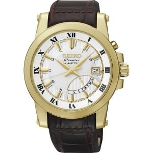 Seiko Premier Horlogeband SRN042P1 Bruin Leer