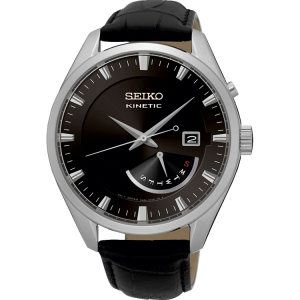 Seiko Kinetic Horlogeband SRN045P2 Zwart Leer