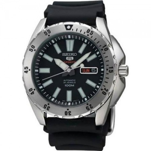 Seiko 5 Sports Horlogeband SRP357 Zwart Rubber - 22mm