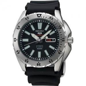 Seiko 5 Sports Horlogeband SRP357 Zwart Rubber