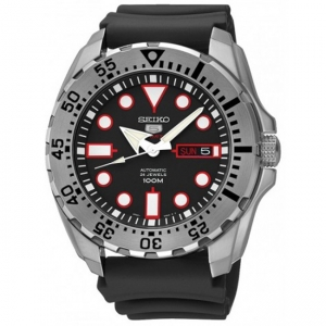 Seiko 5 Sports Horlogeband SRP601 Zwart Rubber - 22mm