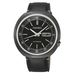 Seiko Recraft Automatic Horlogeband SRPC15K1 Zwart Leer