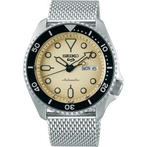 Seiko 5 Sports Horlogeband SRPD67 Zilver Mesh/Milanese 22mm