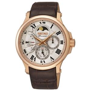 Seiko Premier Horlogeband SRX008P1 Bruin Leer