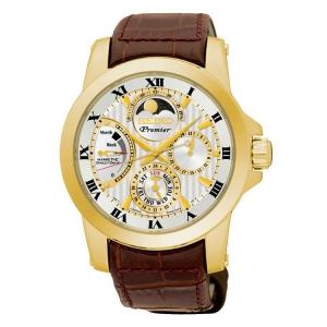 Seiko Premier Horlogeband SRX014P1 Bruin Leer
