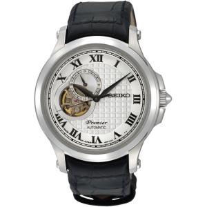 Seiko Premier Horlogeband SSA021J2 Zwart Leer