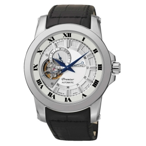 Seiko Premier Horlogeband SSA213J2 Zwart Leer