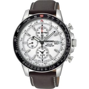 Seiko Solar Horlogeband SSC013P1 Bruin Leer