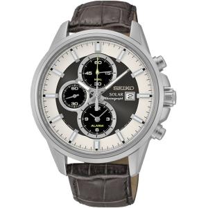 Seiko Solar Horlogeband SSC259P1 Bruin Leer