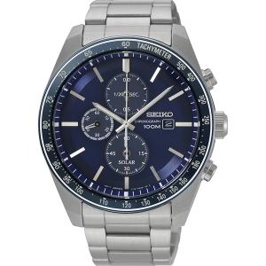 Seiko Chronograph Solar Horlogeband SSC719 Roestvrij Staal