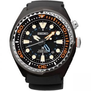 Seiko Prospex Kinetic Horlogeband SUN023 Zwart Rubber