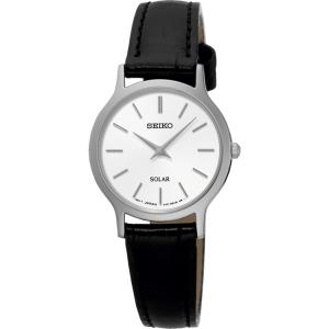 Seiko Solar Horlogeband SUP299 Zwart Leer