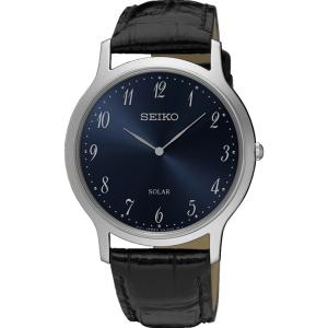 Seiko Solar Horlogeband SUP861 Zwart Leer