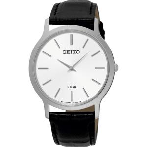 Seiko Solar Horlogeband SUP873 Zwart Leer