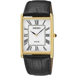 Seiko Solar Horlogeband SUP880P1 Zwart Leer