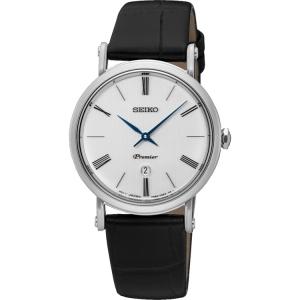 Seiko Premier Horlogeband SXB431P1 Zwart Leer