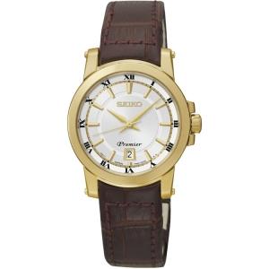 Seiko Premier Horlogeband SXDF48P1 Bruin Leer